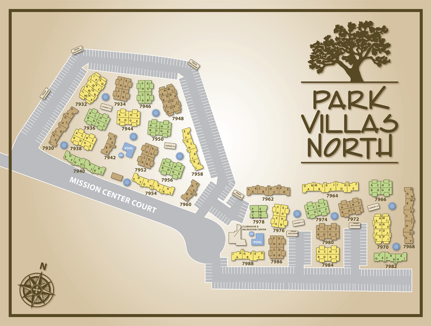 Park Villas North Map